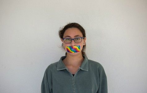 An anonymous student participates in the Day of Silence. Photo by Elvis Li.