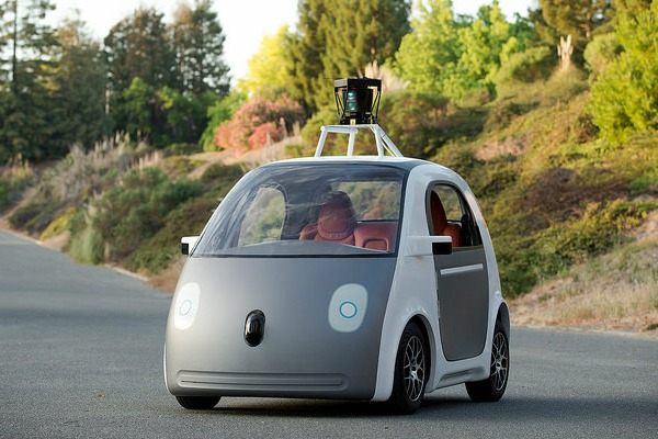 Google began testing its new driverless cars on Bay Area roads in 2015. Google plans to make the vehicles available to the public as soon as 2019. Photo courtesy Flickr user SmoothGroover22.