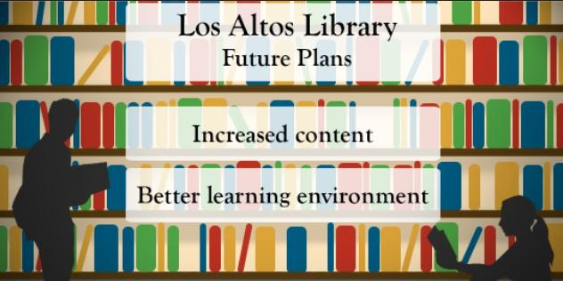 The Los Altos Library discussed the possibility of renovating the library in the future.  Graphic by Vanessa Mark.