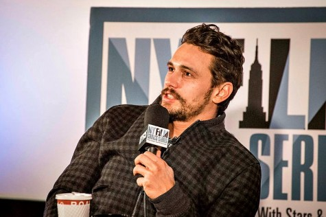 "Actor James Franco at the New York Film Critics Series premiere of ""Child of God"" in July 2014. Franco currently teaches a film course at Palo Alto High School. Photo courtesy  Wikimedia commons user Bridget Laudien."