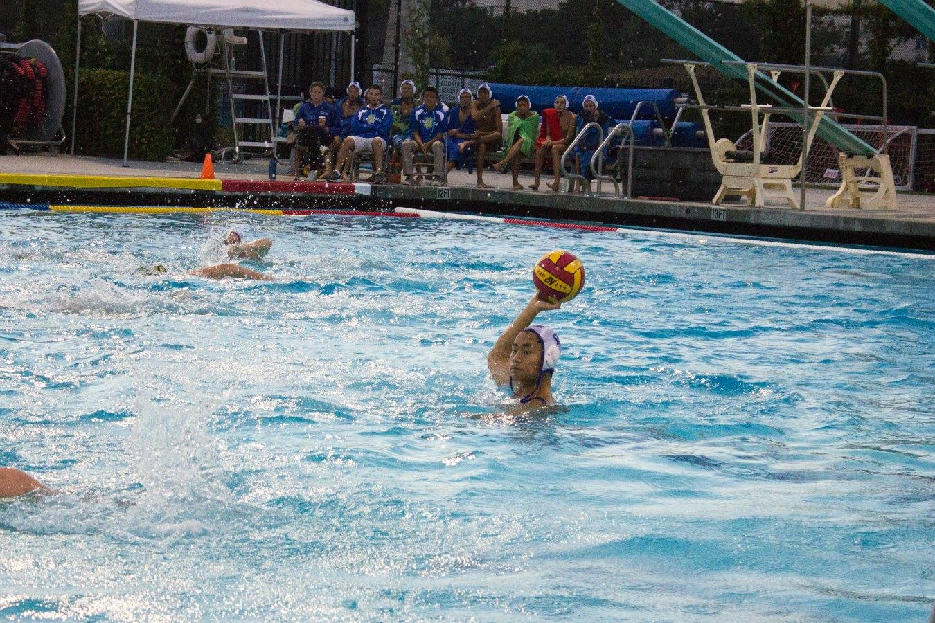 Senior Patrick Fong looks up the pool to make a pass. Photo by Kimia Shahidi.