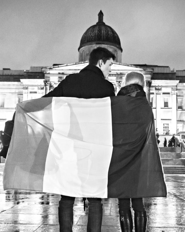 People+in+London%E2%80%99s+Trafalgar+Square+held+a+French+flag+in+solidarity+with+the+victims+in+Paris.+Paris+received+an+outpouring+of+mourning+worldwide+following+the+ISIS+attacks%2C+both+in+person+and+via+social+media.