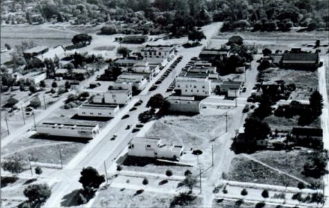 Downtown Los Altos in 1944, from the view of a U. S. Navy blimp. As told by long time Los Altos resident Armand King, being a teenager in Los Altos during the 1950s was a very different experience from that of today. Photo courtesy Don McDonald.