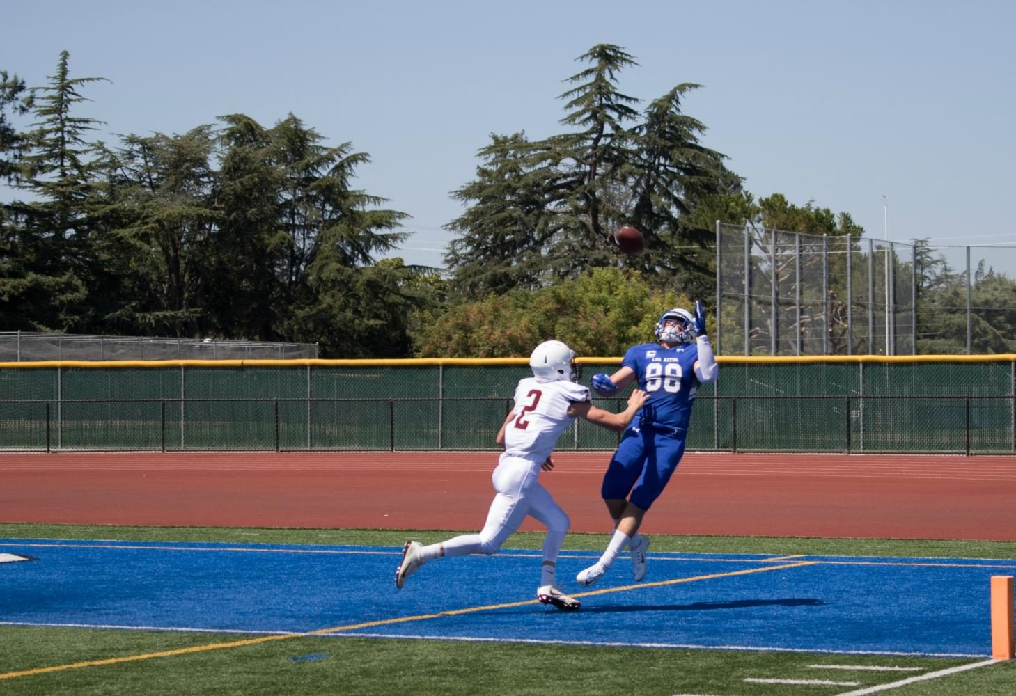 Referees ruled senior Vincent Colodny's first-quarter touchdown an offensive pass interference.