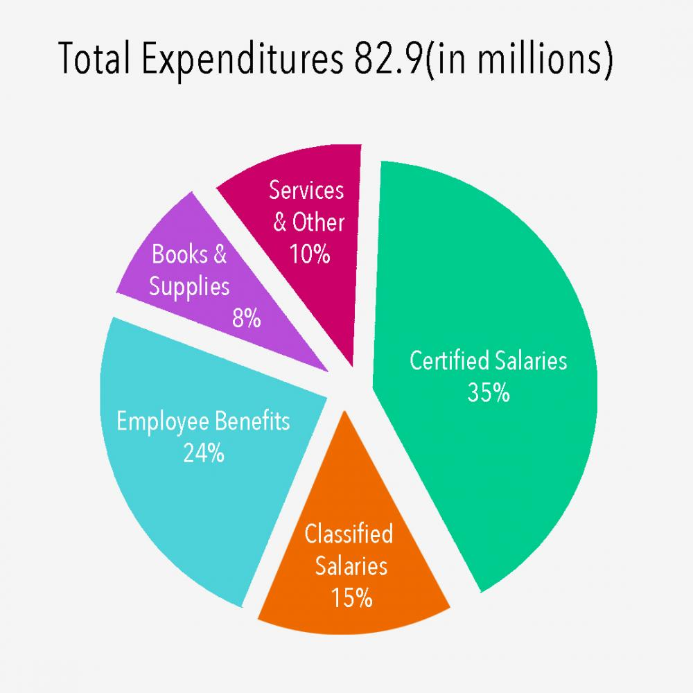 District expenditures. Graphic by Ashley Cai.