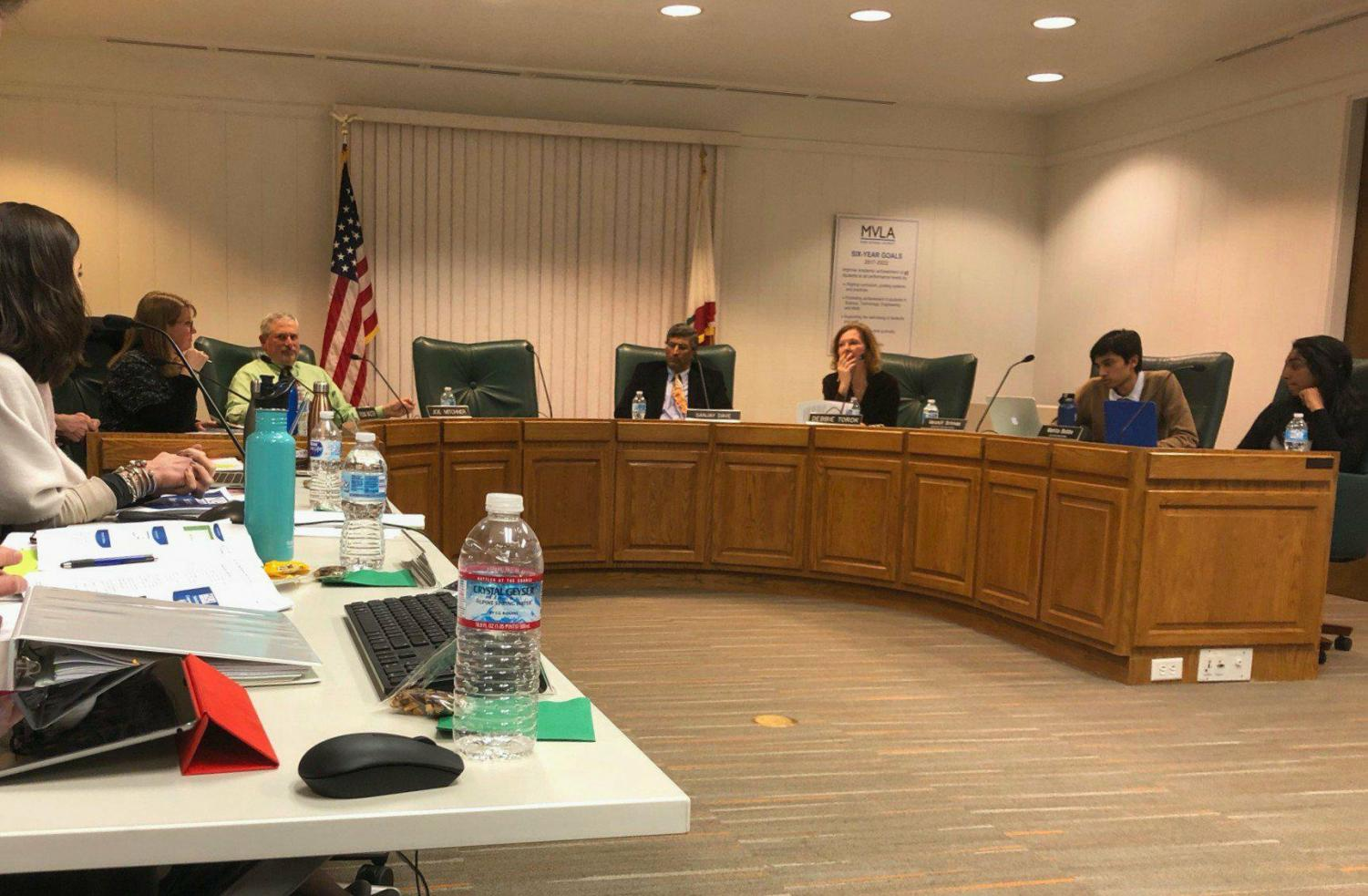 The MVLA School Board discusses raising the daily wage for substitutes to $180 from $152. The raise would help attract subs who are drawn to competing surrounding school districts, solving the shortage of subs. Alex Wong.