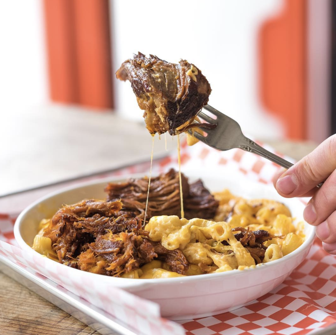 Pictured is a customized macaroni and cheese with short ribs from a San Francisco MAC'D. Courtesy Antony Bello