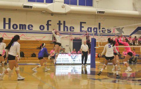 Los Altos Volleyball beats Palo Alto in annual Dig Pink game