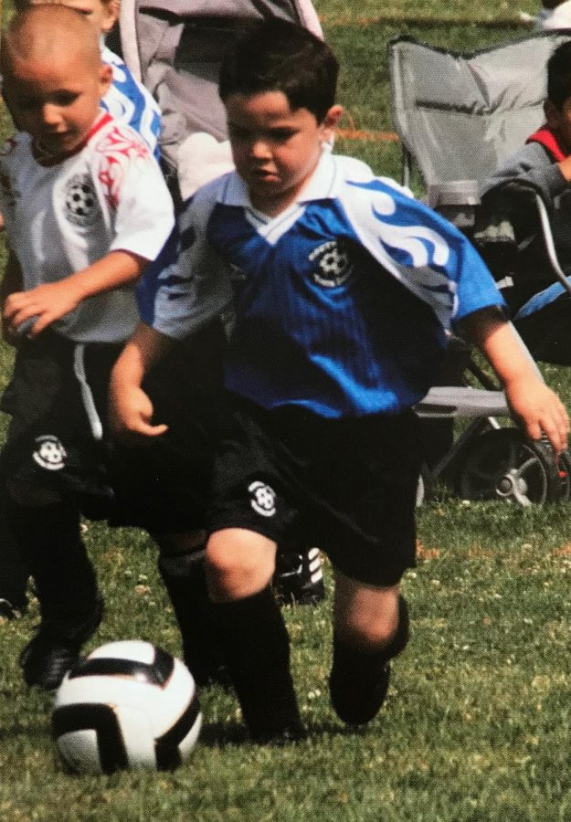 Junior James Wangsness has spent the last 12 years honing his soccer skills. His scowl, however, has been intimidating opponents since the age of four.