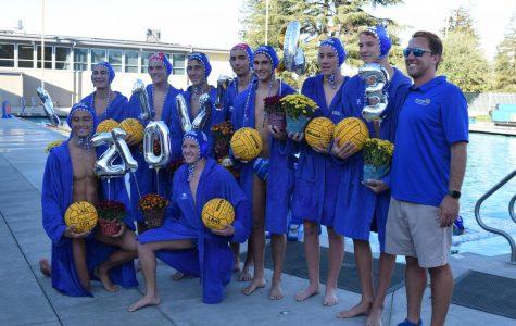 Photo Essay: Varsity boys water polo celebrates spectacular win on senior night