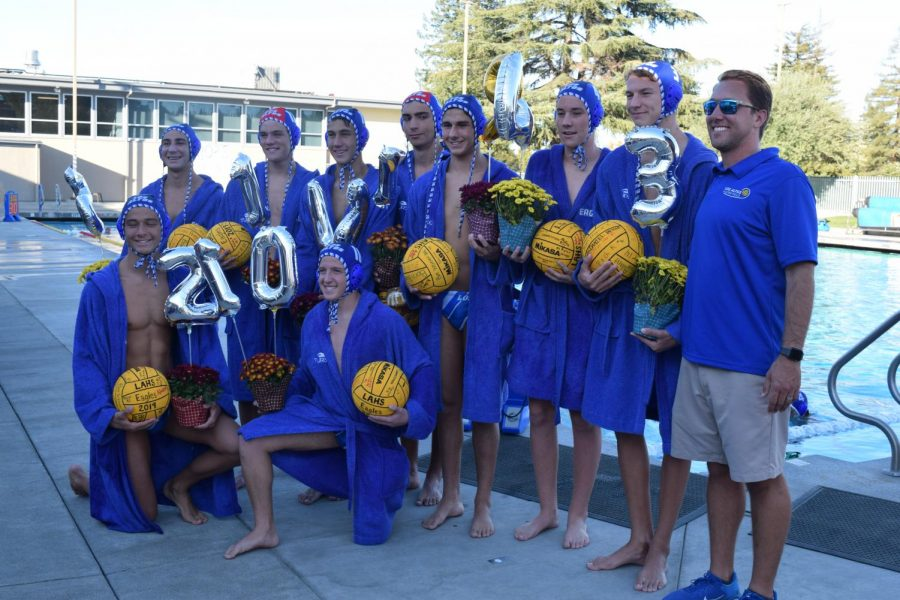 Photo Essay: Varsity boys water polo celebrates spectacular win on senior night