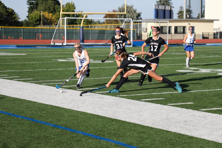 Varsity field hockey victory clawed out of their beaks by Los Gatos Wildcats