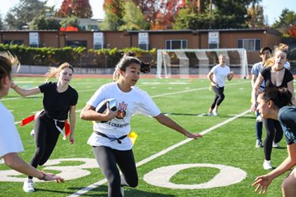 Flag football: Senior girls break their winning streak