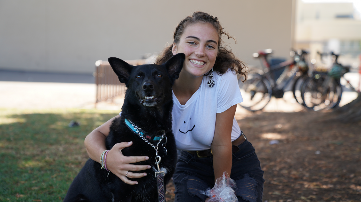 Sophomore Serena Gaylord & German Shepherd Border Collie mix Jenny