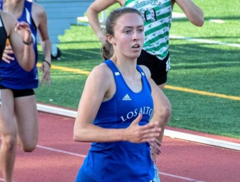 Senior Anna Zaeske running the 400m her junior year. At Johns Hopkins, Anna looks to take track from the high school to college level, while still putting an emphasis on academics.