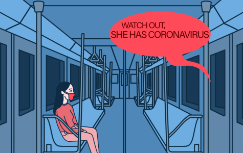 On a New York subway, a racist remark is hurled at an Asian American passenger.