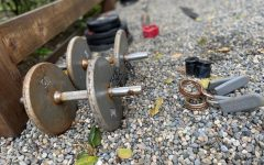 Freshman Logan Kim's backyard gym started with his dad's rusty old dumbbells. Now, it includes new plate weights, a squat bar and more, which have all helped him to maintain both his physical health and mental positivity during the COVID-19 outbreak.