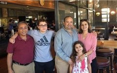 Pictured above is sophomore Omar Ibrahim with his family standing in front of one of the sites of their restaurant group, Dishdash. During quarantine, Omar has been balancing working daily with completing schoolwork.