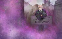 Draco Malfoy leans over a sign welcoming you to Hogwarts as you shift realities. Recently, people all over the internet have been claiming to shift realities, sharing their stories with the world.