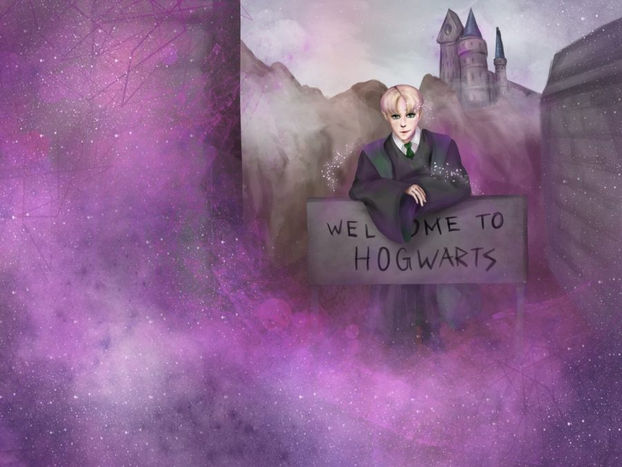 Draco+Malfoy+leans+over+a+sign+welcoming+you+to+Hogwarts+as+you+shift+realities.+Recently%2C+people+all+over+the+internet+have+been+claiming+to+shift+realities%2C+sharing+their+stories+with+the+world.+