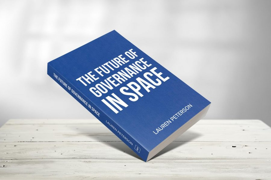"""Peterson's book, """"The Future of Governance in Space,"""" will be published in April of this year."""