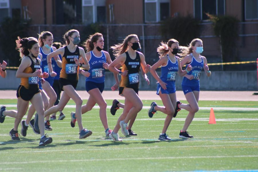 Yesterday+marked+the+Eagles%27+first+cross+country+meet+in+over+a+year.+Hosted+at+Los+Altos+High+School%2C+the+season%27s+first+SCVAL+meet+ended+with+a+win+for+the+varsity+girls+and+a+fourth+place+finish+for+the+varsity+boys.