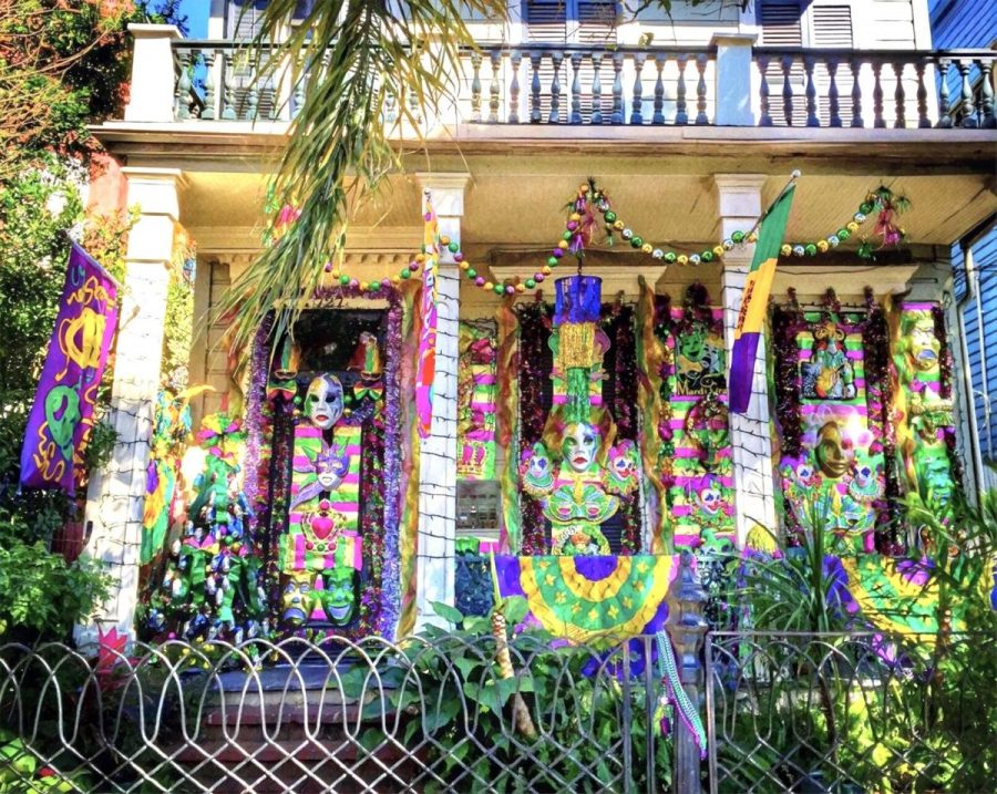 A New Orleans house is extravagantly decorated in honor of Mardi Gras. This year, people celebrated in varied ways due to COVID-19.