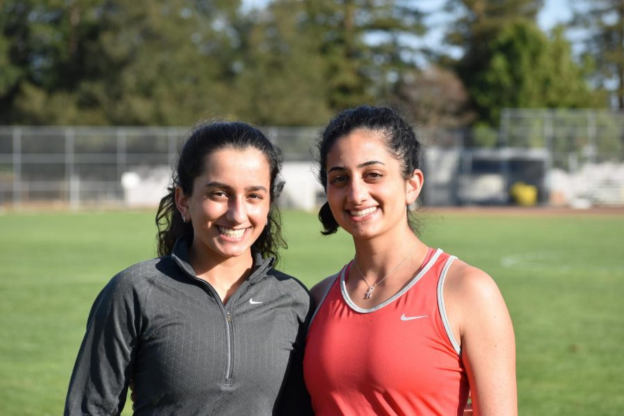 Senior Hannah Ghaffari (right) and sophmore Melody Ghaffari (left) currently hold the top two singles spots on the varsity girl's tennis team. The many years they've spent playing and supporting one another has enabled the sisters' bond to continuously grow stronger and stronger.