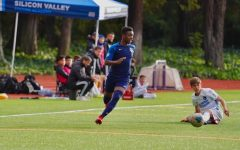 Senior Mwinso Denkabe plays on his Silicon Valley Soccer Academy (SVSA) team. In March, after his recruitment process was put on hold due to the pandemic, Mwinso committed to the nationally ranked Wake Forest University mens soccer team.