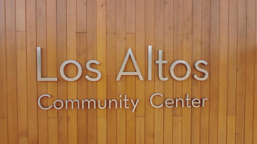 Sign for the community center