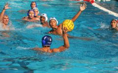 The boys varsity water polo team played its first in-league game of the season Tuesday, September 7,  against the Harker School.