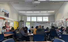 A photo of English teacher Arantxa Arriada's freshman Survey of Composition and Literature class. The new curriculum features a larger focus on free reading, a new unit on student-led book clubs and a revised selection of short stories.