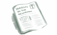 The Talon analyzed the diversity of our staff and sources interviewed this year.